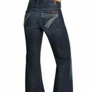 Seven 7 For All Mankind DOJO Flare Wide Leg Jeans